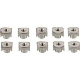 Hliníková 4-hranná matice M2, 10 ks