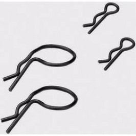 Sada sponek karoserie Tamiya, 25 / 15 mm, 1:10, 10 ks, černá