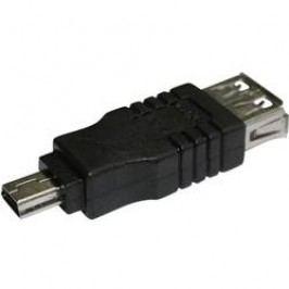 USB adaptér AIV, 77C215, USB zásuvka ⇔ miniUSB zástrčka
