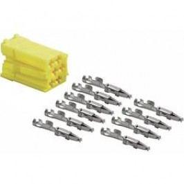 Mini ISO zástrčka AIV, 10 kontaktů, žlutá