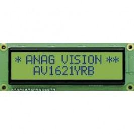 LCD displej 16x2 Anag Vision, AV1621YRB-SJ, 10 mm, Anag V, černá, zelená/žlutá