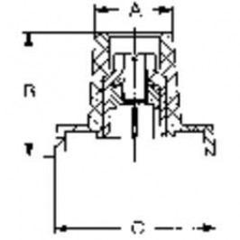 Krytka na knoflík (Ø 9 mm) Mentor 4129.063, černá