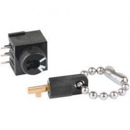 Miniaturní klíčový spínač THT Mentor, montážní průměr 7,8 mm