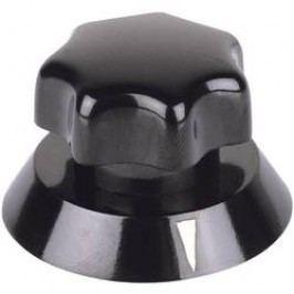 Otočný knoflík Mentor, 320,621, Ø 21 mm, výška 16 mm, černá
