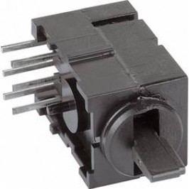 Páčkový přepínač THT Mentor, 1842,1031, 60 V DC/AC, 0,5 A, černá