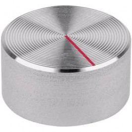 Knoflíky pro měřící přístroje Mentor 522.611, 6 mm, hrubý hliníkový povrch