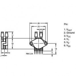 Senzor tlaku NXP Semiconductors MPX5100DP, 0 kPa až 100 kPa
