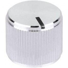 Kovový knoflík Mentor 5554.6612, 6 mm, lesklá stříbrná