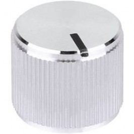 Kovový knoflík Mentor 5555.6612, 6 mm, lesklá stříbrná