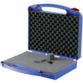Plastový kufr s pěnovou výplní, 340 x 310 x 80 mm, modrá