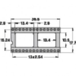 Patice pro IO Preci Dip 110-83-628-41-001101, 28pól., 15,24 mm, pozlacené kontakty