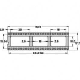 Patice pro IO Preci Dip 110-83-650-41-001101, 50pól., 15,24 mm