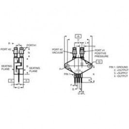 Speciální diferenciální senzor tlaku Freescale Semiconductor MPX-2010 DP, 0 - 10 kPa