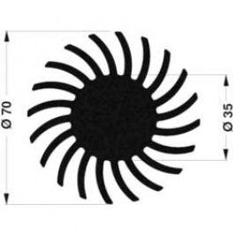 LED chladič Fischer Elektronik SK 571 50 SA 10021489, 1.45 K/W, (Ø x v) 70 mm x 50 mm