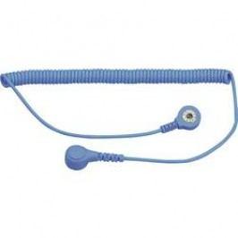 ESD zemnicí kabel pro osobní uzemnění BJZ C-198 1263, 1,8 m, bezpečnostní odpor 1 MΩ, světle modrá