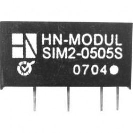 DC/DC měnič HN Power SIM2-1212S-SIL7, vstup 12 V, výstup 12 V, 166 mA, 2 W