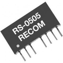 DC/DC měnič Recom RS-2412D, vstup 18 - 36 V/DC, výstup ±12 V/DC, ±83 mA, 2 W