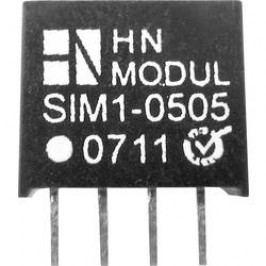 DC/DC měnič HN Power SIM1-1212-SIL4, vstup 12 V, výstup 12 V, 83 mA, 1 W