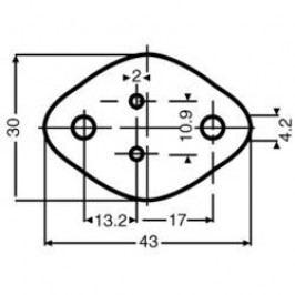 Slídová podložka Fischer Elektronik GS 3, (d x š) 43 mm x 30 mm, vhodné pro TO-3, 1 ks