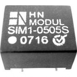DC/DC měnič HN Power SIM1-1215D-DIL8, vstup 12 V, výstup ± 15 V, ± 40 mA, 1 W