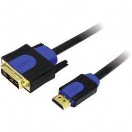 HDMI LogiLink, DVI kabel, zástrčka/zástrčka, 18+1pol., černý 1 m