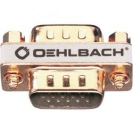 VGA adaptér Oehlbach 8628, [1x VGA zástrčka - 1x VGA zástrčka], zlatá