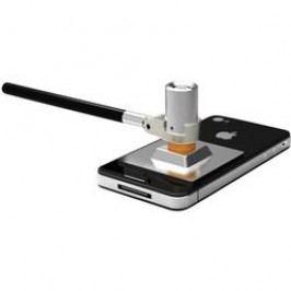 Univerzální ochranná deska proti krádeži pro smartphone & tablet, stříbrná