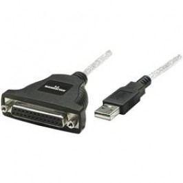 Adaptér Manhattan USB 1.1/paralelní, černý, 1,8 m