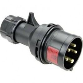 CEE zástrčka na kabel 015-6x PCE, 16 A, IP44, černá