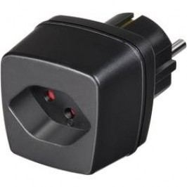 Cestovní adaptér Brennenstuhl, 1508480, zásuvka (Švýcarsko) ⇔ zástrčka CZ, černá