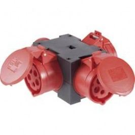 CEE rozbočovač PCE, 9430411, zástrčka 16 A ⇒ 3x CEE zásuvka, 400 V, IP44