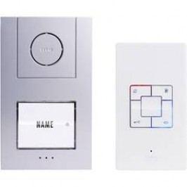Domácí telefon m-e, Vistus AD 4010, 1 rodina, bílá/stříbrná