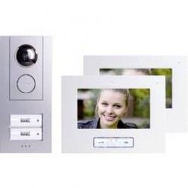 Domácí videotelefon m-e, Vistus VD 6720, 2 rodiny, bílá/stříbrná