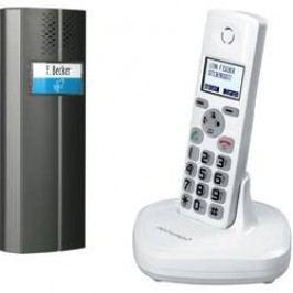 Bezdrátový domácí telefon, 1 rodina, 200 m, bílá/antracit