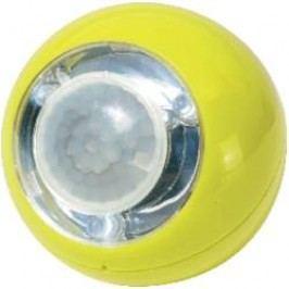 Přenosné LED světlo koule s PIR čidlem GEV, 3x LED, žlutá (00759)