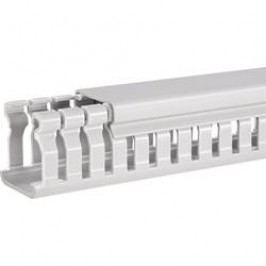 Elektroinstalační lišta Hager, BA6 80040, 47x84 mm, 2 m, šedá