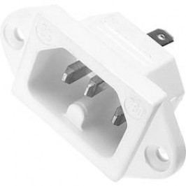 Sí´tová IEC zástrčka C16 Kaiser, 250 V, 10 A, bílá, 780/ws