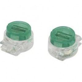 Svorka, SJT5, 0,13 - 0,38 mm², 2pólová, zelená, 50 kusů