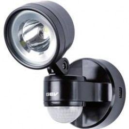 Venkovní LED reflektor s PIR GEV 014701, 4 W, černá