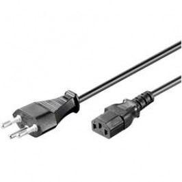 Síťový kabel Goobay, 93617, zástrčka (Švýcarsko) <=> IEC zásuvka, 2 m, černá