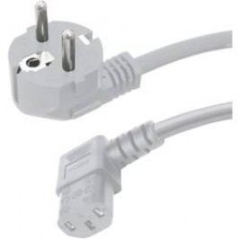 Síťový kabel s IEC zásuvkou HAWA 1008239, 2.50 m, šedá