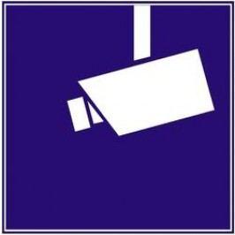 Nálepka Objekt hlídán kamerou 40203, čtverec, sada 3 ks