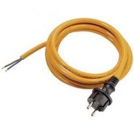 Síťový kabel AS Schwabe 70913, zástrčka/otevřený konec, 1 mm², 5 m, oranžová