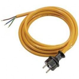 Síťový kabel AS Schwabe 70919, zástrčka/otevřený konec, 1 mm², 5 m, oranžová