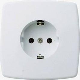 Zásuvka do zdi GAO Trend 0301, krémově bílá