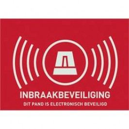 Nálepka Zabezpečeno alarmem ABUS AU1307, holandsky, 74 x 53 mm