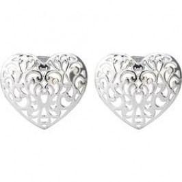 Dekorativní nástavce DIY-02-004 pro světelné řetězy s 8 LED Polarlite, stříbrné srdce