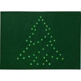 Vánoční LED rohožka Polarlite PDE-05-001, do sítě, zelená, stromeček