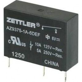 Miniaturní výkonové relé 10 A Zettler Electronics AZ9375-1A-6DEF, 10 A , 30 V/DC/277 V/AC