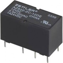 Subminiaturní DIP relé 12 V/DC 2 A Zettler Electronics AZ822-2C-12DSE 1 ks